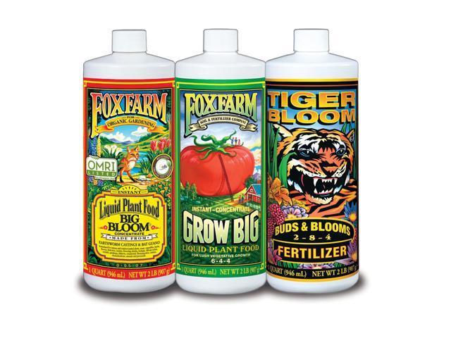 FOXFARM FX14049 Hydro Nutrient Trio Tiger Bloom Grow 3 Qts Liquid Plant  Grow - Newegg com