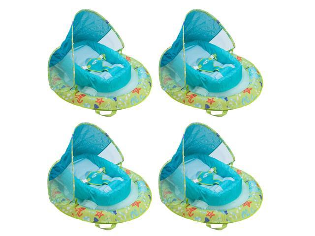 SwimWays Infant Spring Inflatable Swimming Pool Float with Canopy (4 Pack)  - Newegg.com