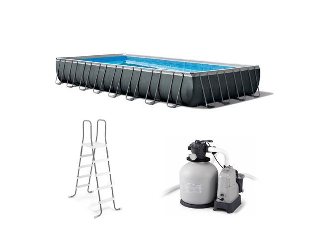 Intex 32 Ft x 16 Ft x 52 Inch Ultra XTR Rectangular Swimming Pool Set with  Pump - Newegg.com