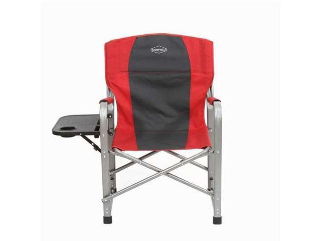 Folding Directors Chair With Side Table.Kamp Rite Camping Tailgating Folding Director S Chair W Side Table Red Newegg Com