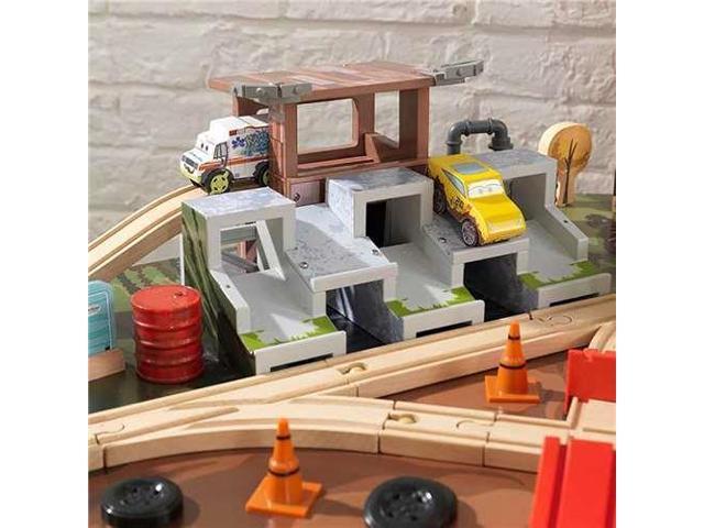 Admirable Kidkraft Disney Pixar Cars 3 71 Piece Thunder Hollow Toy Car Race Track Table Newegg Com Download Free Architecture Designs Scobabritishbridgeorg