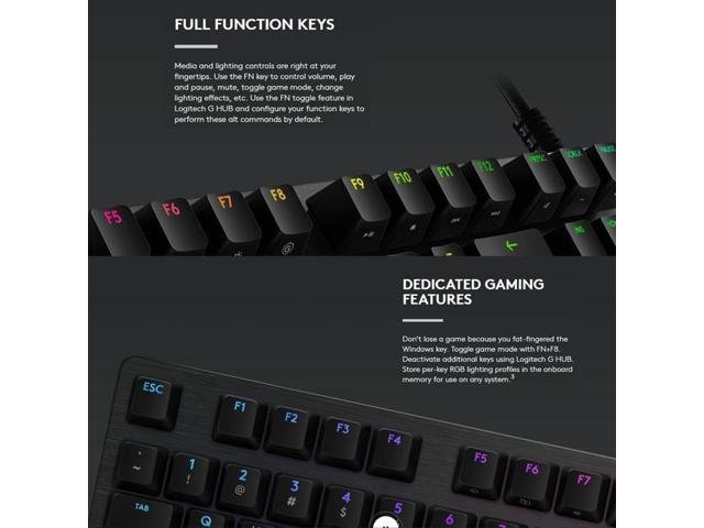 Logitech G512 Rgb L Axis Mechanical Wired Gaming Keyboard Length