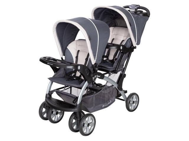 Baby Trend Sit N Stand Easy Fold Twin Double Infant Toddler Stroller Magnolia Newegg Com