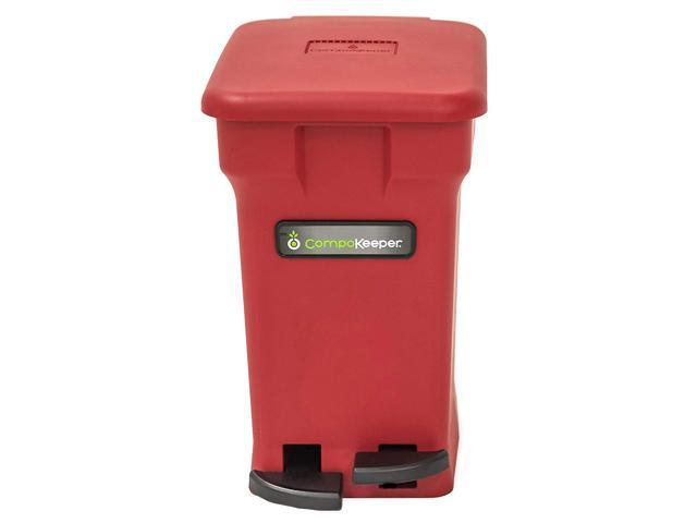 CompoKeeper Kitchen 6 Gallon Compost Organic Waste Kitchen Bin Trash Can,  Red - Newegg.com