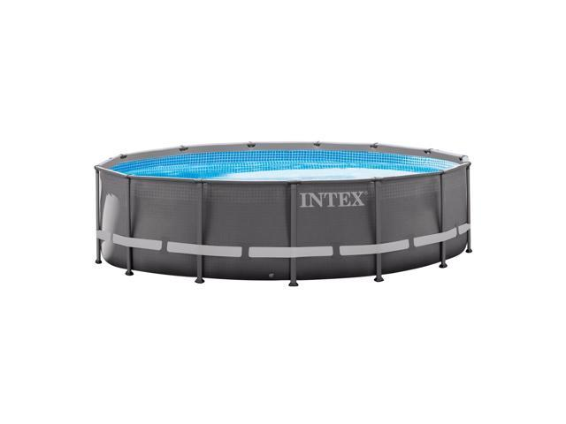 Intex 14ft x 42in Ultra Frame Above Ground Swimming Pool Set with Ladder &  Pump - Newegg.com