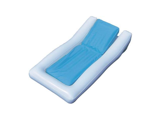 Swimline Inflatable Conch Island Floating Lounger Raft Mat for Swimming Pool