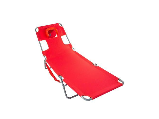 Awesome Ostrich Chaise Lounge Folding Portable Sunbathing Poolside Beach Chair Red Dailytribune Chair Design For Home Dailytribuneorg