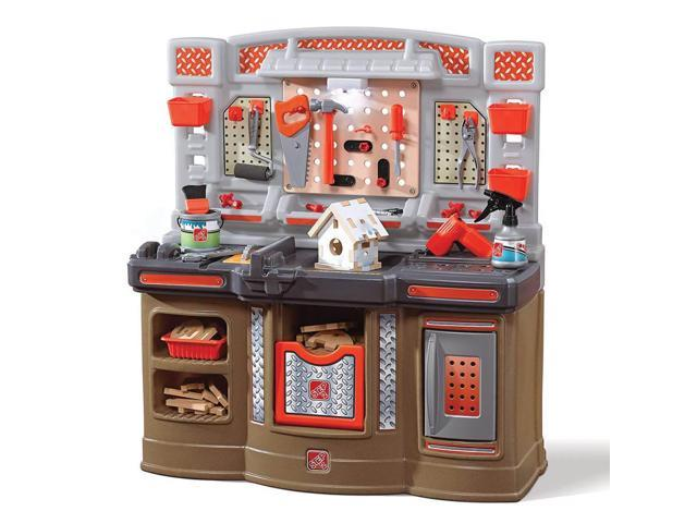 Swell Step2 Big Builders Pro Workshop Kids Toy Tool Bench With Accessories Orange Creativecarmelina Interior Chair Design Creativecarmelinacom