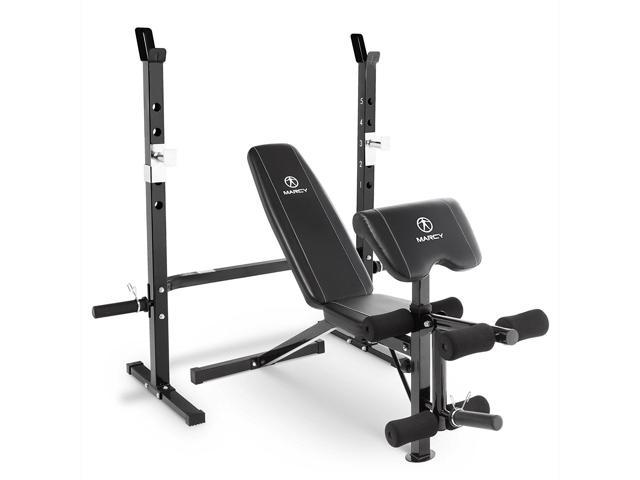 Awe Inspiring Marcy Olympic Weight Bench With Bar Catches Leg Developer Machost Co Dining Chair Design Ideas Machostcouk