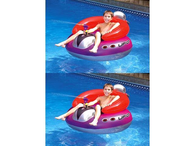 Pleasant 2 Swimline 9078 Swimming Pool Ufo Squirter Toy Inflatable Lounge Chair Floats Ocoug Best Dining Table And Chair Ideas Images Ocougorg