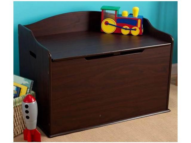 Kidkraft Austin Wood Toy Box Chest And Children Bench Espresso