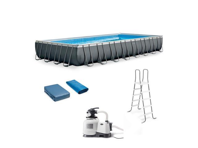 Intex 32ft x 16ft x 52in Rectangular Ultra XTR Frame Swimming Pool with Pump