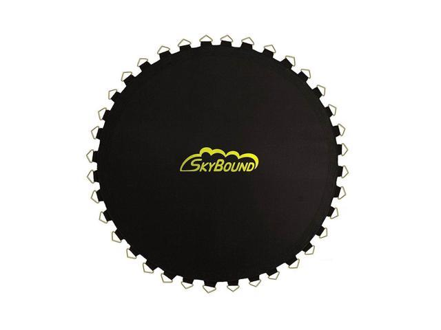 Fits Brands Bravo, Airzone, Variflex SkyBound 10 ft Round Trampoline Mat with 72 V-Rings Fits Frames That are 12 ft. 5 in. That use Springs That are 5.5. 125 in.