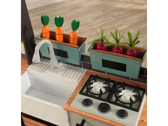 Used Very Good Kidkraft Farm To Table Pretend Play Kitchen Playset W Ez Assembly Newegg Com