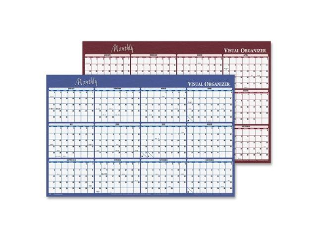 graphic relating to Monthly Organizer identify AT-A-Glimpse A152 Month to month Organizer Cal Erasable 2-Sided 32inx48within BE/Via -
