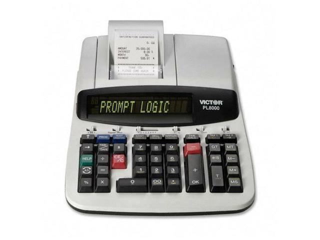 Victor PL8000 One-Color Prompt Logic Printing Calculator Black Print 8  Lines/Sec - Newegg com