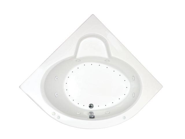 Atlantis Tubs 6060adl Alexandria 60 X 60 X 23 Inch Corner Air And