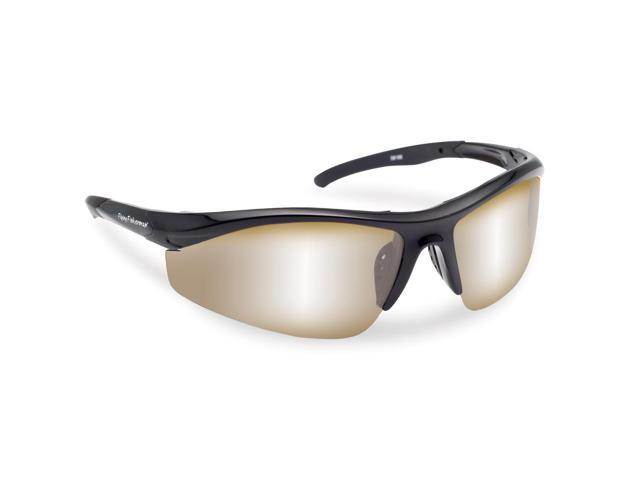 d96253140ab Flying Fisherman Spector Action Angler Series Polarized Sunglasses Black   Amber Silver Mirror