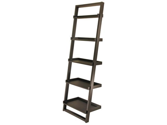 Winsome 29525 Black Leaning Bookshelf 5 Tier Newegg Com
