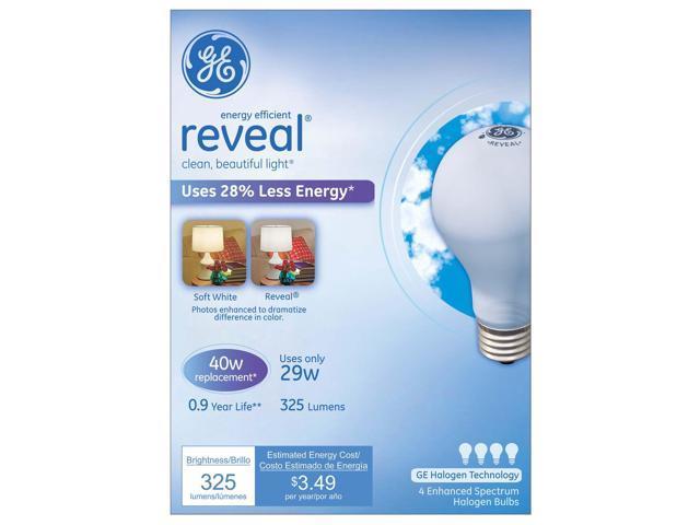 Ge Lighting 67769 29 Watt Soft White Reveal Halogen Light Bulb Pack 4 Count  - Newegg ca