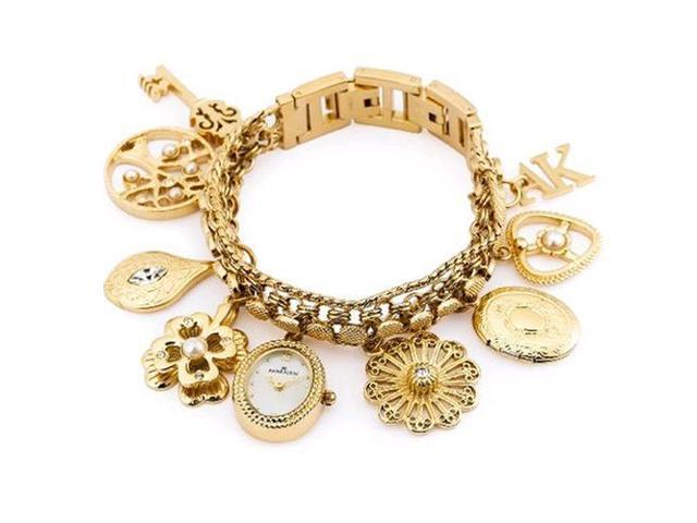 Anne Klein 10 8096chrm Charm Bracelet Las Watch New