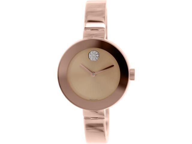 048a8b205 Movado Bold Rose Dial Rose Gold Ion-plated Ladies Watch 3600202