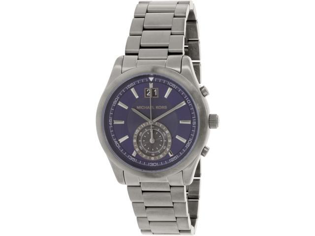 f639eab09cb3 Michael Kors Men s MK8418 Grey Stainless-Steel Swiss Quartz Watch ...