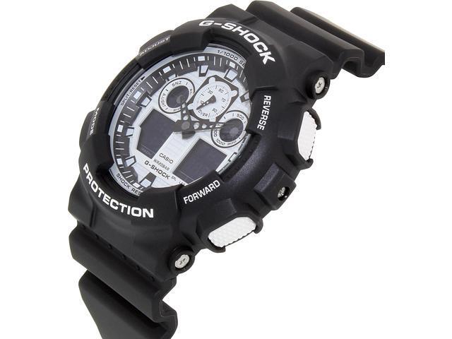 Casio G Shock Digital Analog Black Sports Watch Ga100bw 1a Newegg Ca