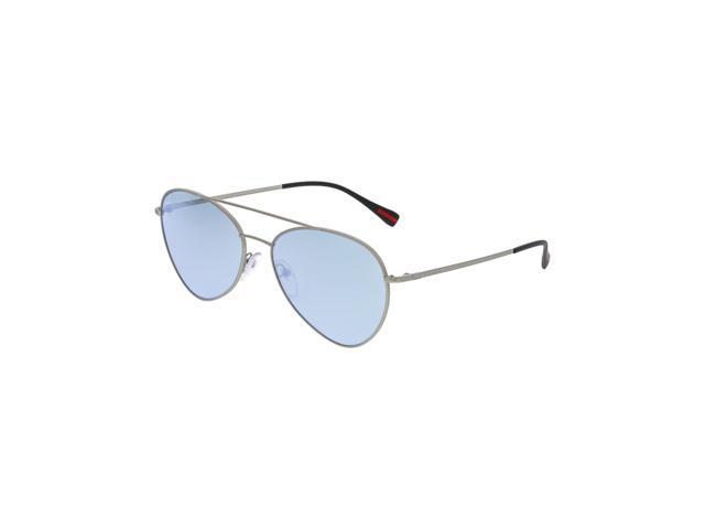 8ad60c3deea1 Prada PS50SS-1AP5Q0-60 Silver Aviator Sunglasses - Newegg.com