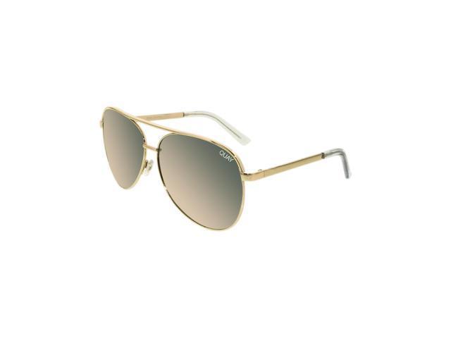 99fae0fdc1b8 Quay Women's Mirrored Vivienne QC-000098-GOLD/ROSE Gold Aviator Sunglasses