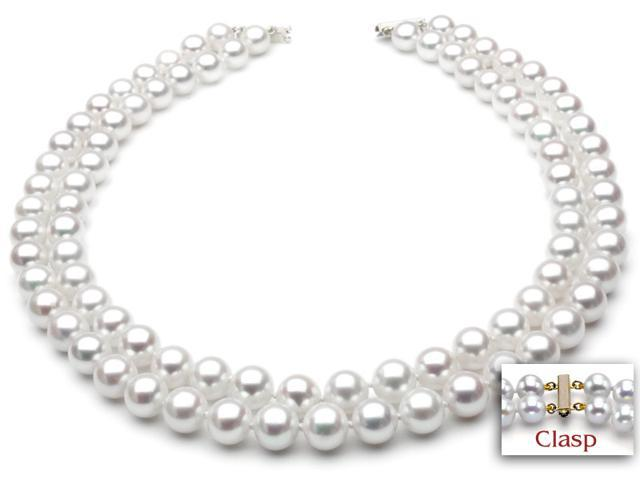 65649b50b Freshwater Pearl Necklace - Two-Strand 7-8mm AAA Quality 18