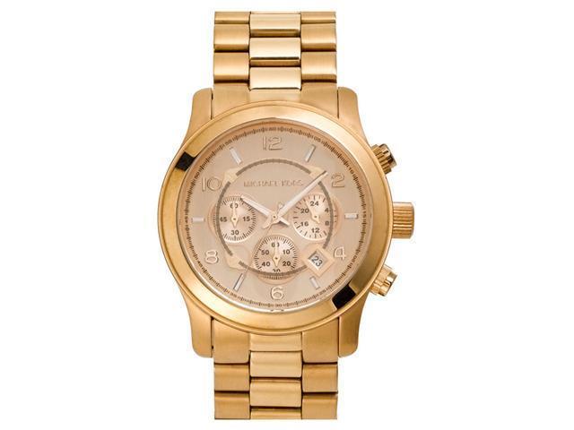 e955f7e9c462 Michael Kors MK8096 Runway Chronograph Rose Gold-Tone Unisex Watch