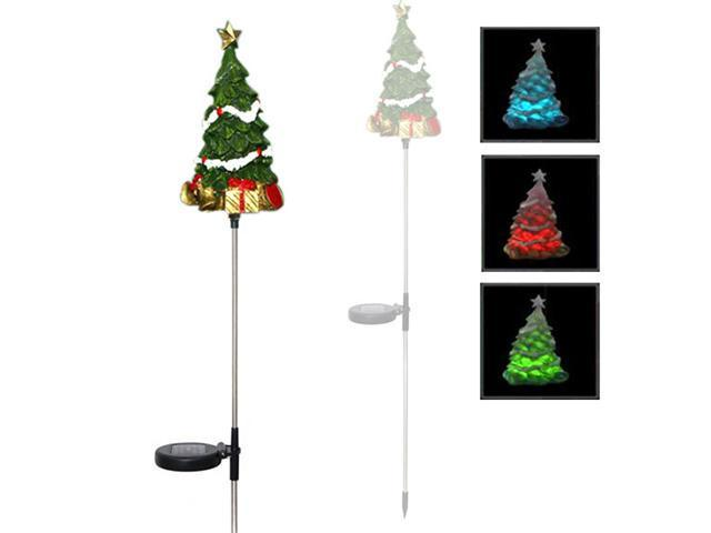 Solar powered led color changing christmas lighting yard stick solar powered led color changing christmas lighting yard stick christmas tree single item aloadofball Images