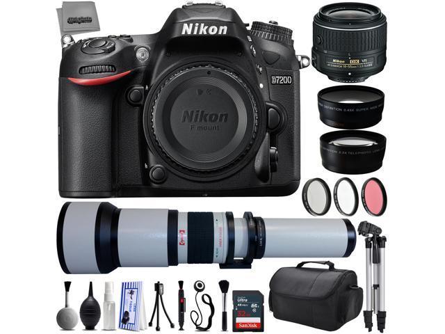 Nikon D7200 24 2MP 1080P DSLR Camera w/ 3 2