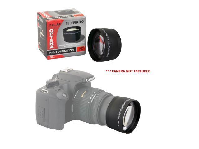 MegaAccessory 58mm 2.2x Telephoto Lens with Macro for NIKON D5300 D5200 D5100 D5000 D3300 D3200 D3100 D3000 D7100 D7000 DSLR Cameras with 58mm Diameter Lenses