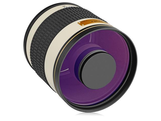 ed35c7480ff Opteka 500mm f 6.3 (with 2x- 1000mm) Telephoto Mirror Lens for Nikon ...