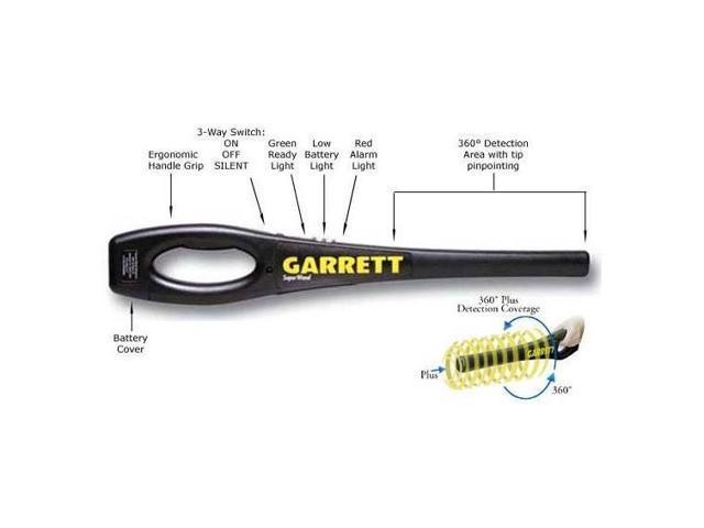 Garrett Metal Detectors Handheld Metal Detector, Plastic ABS Plastic  1165800 - Newegg com