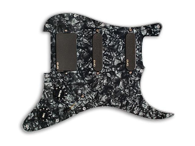 EMG SL20 Steve Lukather SLV / SLV / 85 Prewired Pickguard / Pickup set -  black pearloid / black - Newegg com