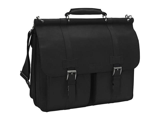 725bc4287c12 Kenneth Cole Reaction Mind Your Own Business Columbian Leather Dowel Rod  Laptop Case - Black - Newegg.com