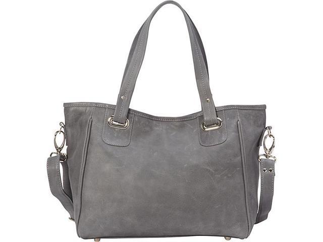 425a122cc01c Piel Leather 3046 - CHAR Open Totecross Body Bag - Charcoal - Newegg.com