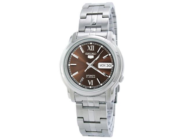 e18f5dd8f Seiko 5 Automatic Brown Dial Stainless Steel Mens Watch SNKK79 ...