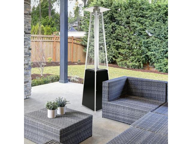 garden radiance grp3500bk dancing flames black pyramid outdoor