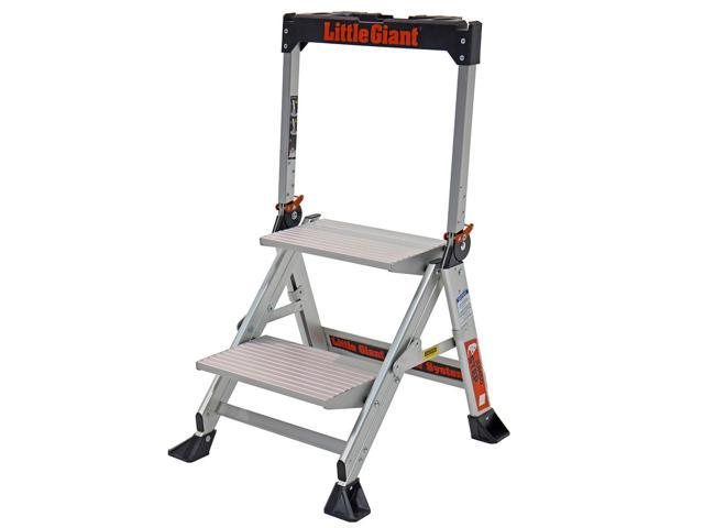 Swell Little Giant 11902 2 Step Heavy Duty Portable Aluminum Jumbo Stepstool Newegg Com Inzonedesignstudio Interior Chair Design Inzonedesignstudiocom