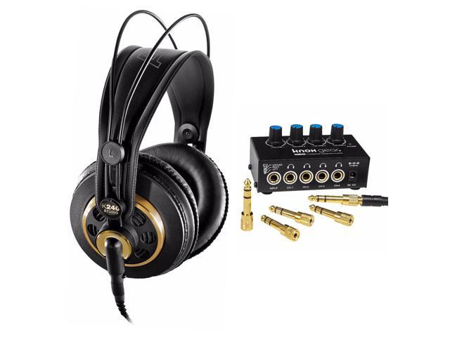 akg k240 professional studio headphones with knox gear headphone amplifier. Black Bedroom Furniture Sets. Home Design Ideas