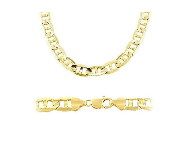 8d43f5e0632 14k Solid Gold Gucci Mariner Chain Necklace 7.7mm 22