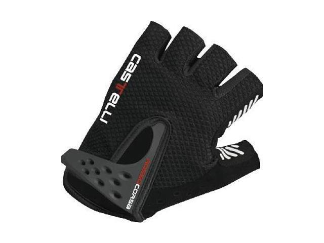 XL Black /& Red Castelli Rosso Corsa Cycling Gloves Mitt Size Extra Large