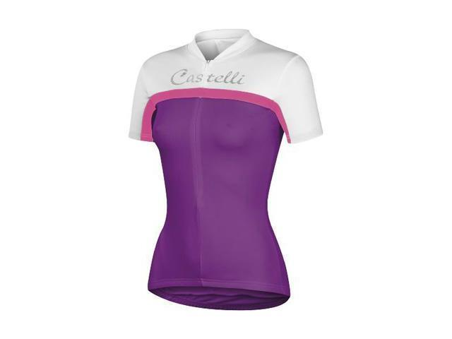 506a653eb Castelli Womens Promessa Short Sleeve Cycling Jersey - A11039 (cyclamen  white pink fluo