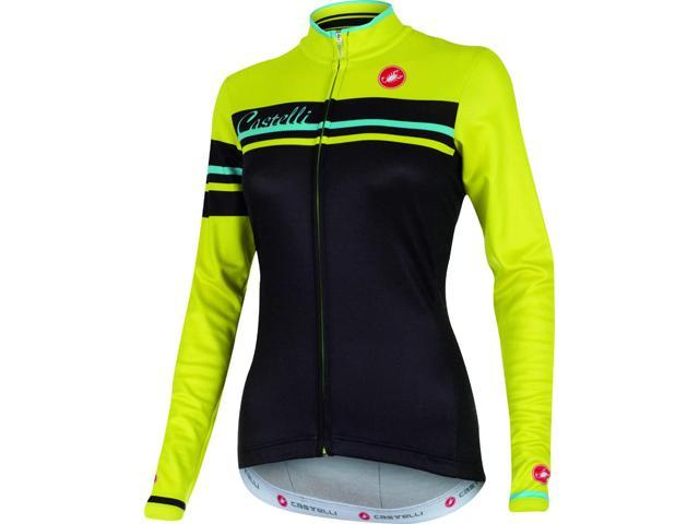 00a82b212 Castelli Womens Girone Long Sleeve Cycling Jersey - A15563 (black sulphur -  L)