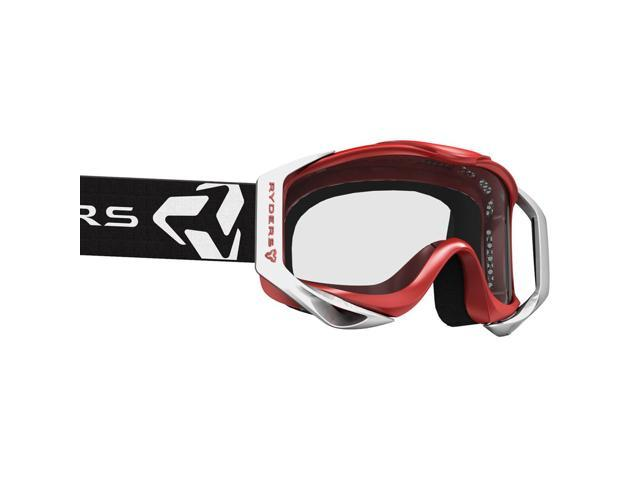 8016e3934a3 Ryders Eyewear Tallcan Bike Sports Goggles (RED-WHITE   CLEAR DOUBLE LENS)