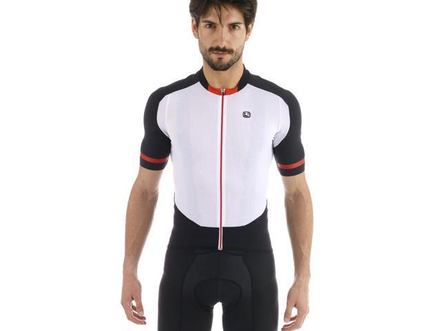 47c9da177455 Giordana Mens Body Clone FR-Carbon Short Sleeve Cycling Jersey -  GI-S5-SSJY-FRCA (White Black - L)